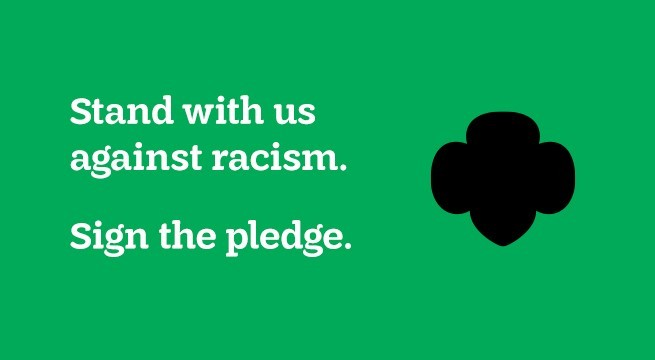 Stand with us against racism. Sign the pledge.